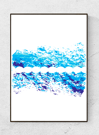 """Art poster """"The in Between"""", blue starting at 9.90€"""