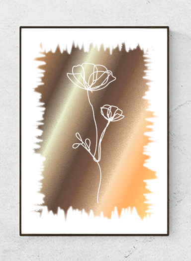 """Art poster  """"Golden glow"""", bright, starting at 9.90€"""