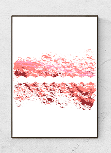"""Art poster  """"The in Between"""", pink starting at 9.90€"""