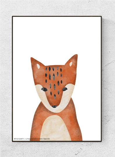 Art poster Enchanting forest, Fox starting at.7,90