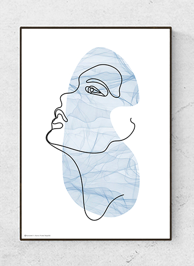 Art poster Face, Blue, starting at 9.90€