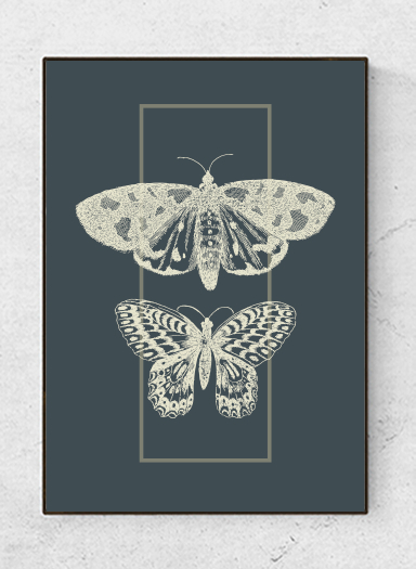 Art poster Insects, green, starting at 9.90€