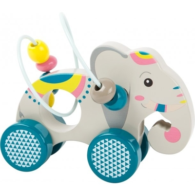 Babies' elephant toy with wheels
