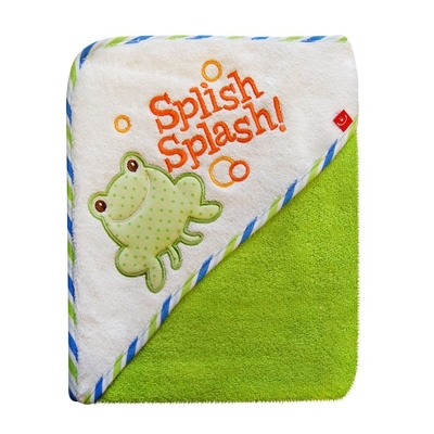 Baby's bath towel, frog