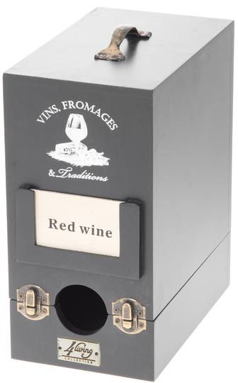 Bag-in-box wine box, black