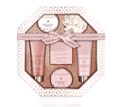Baylis & Harding Jojoba, Silk & Almond Oil Hexagonal -gift box 6 products