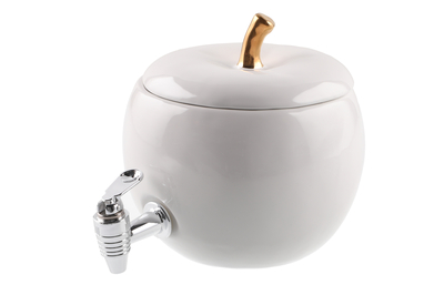 Beverage dispenser Apple ceramic 3 L