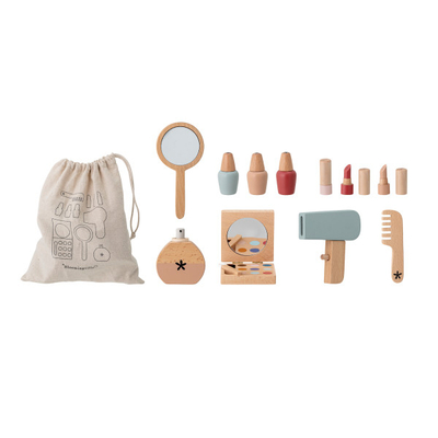 Bloomingville children's wooden cosmetics toy set