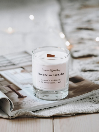 Candle Light Story Essentials Soy wax candle, Provencian Lavender