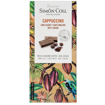 Cappuccino chocolate bar 60%, 85g