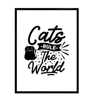 Cats life poster - Cats rule... staring at 7,90€
