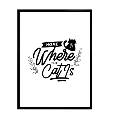 Cats life poster - Home is where... starting at 7,90€