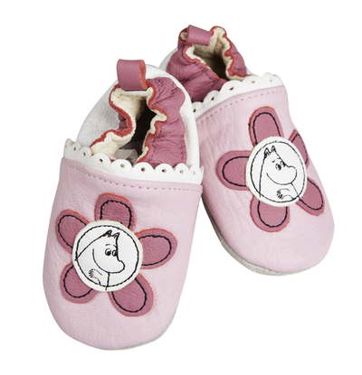 Children's Moomin slippers Flower, leather