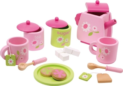 "Children's Wooden Tea Set ""Rosa"", 17 pieces"