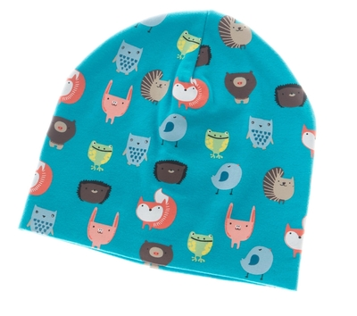 Children's beanie, Forrest friends, blue