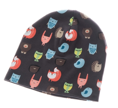 Children's beanie, Forrest friends, brown