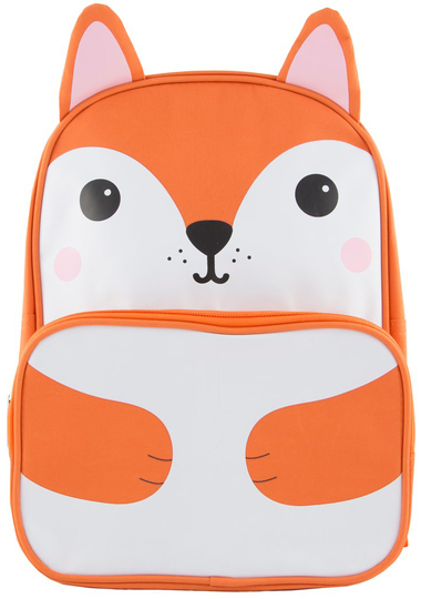 Children's club bag, Hiro fox, orange