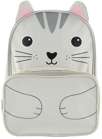 Children's club bag, Nori cat, grey