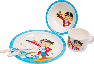 Children's dinnerware set, 5 parts, pirates