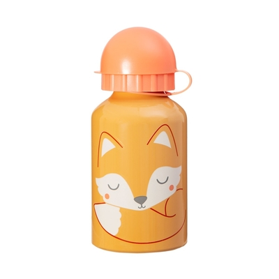 Children's drinking bottle Fox, orange 300ml