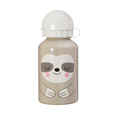 Children's drinking bottle Sloth, grey 300ml