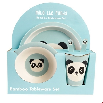 Children's feeding set, 5 parts, Miko Panda