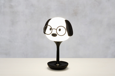 Children's room Chargeable Dog touch lamp, black/white