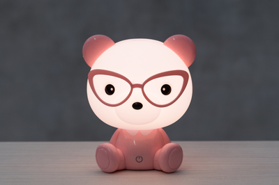 Children's room Teddybear touch lamp, pink