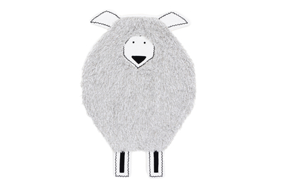 Children's room carpet/wall hanging Sheep 60x110cm, white
