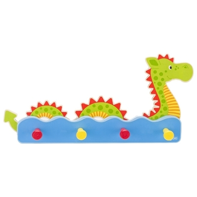 Children's wall coat hanger, sea horse