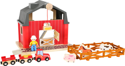 Children's wooden farm and tractor