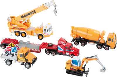 Children's worksite vehicle set, 5 vehicles