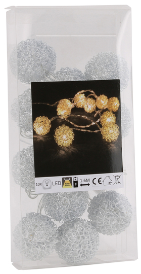 Christmas lights / Led-lights wireballs, white