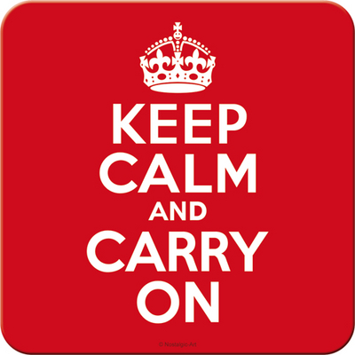 Coaster Keep calm and carry on