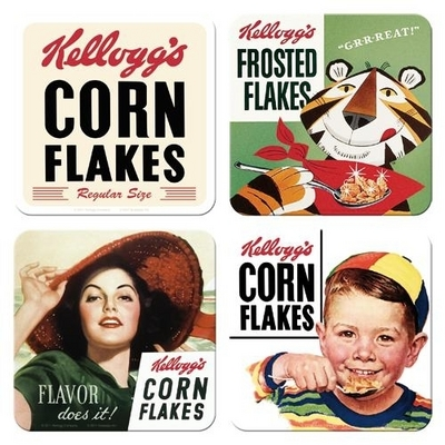 Coasters Kellogg's, Set of 4