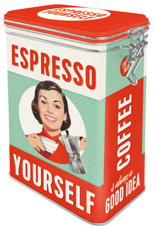 "Coffee jar ""Espresso Yourself"""
