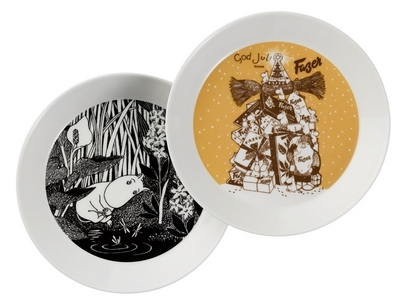 Collector's Edition Fazer and Moomintroll dreaming plate 2-pack, part 1/10