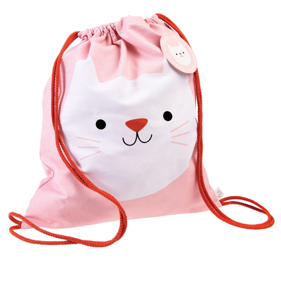 Cookie Cat drawstring bag