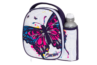 Cooler bag and drinking bottle 500 ml set, Butterfly