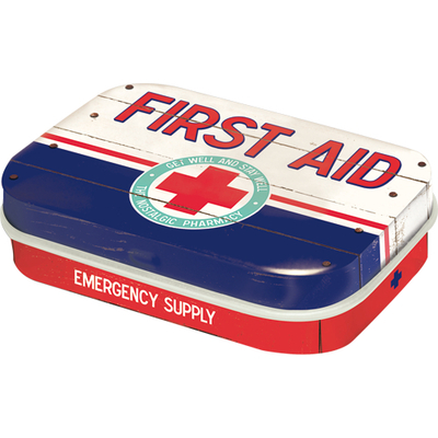 Cough Drop Tin Box First Aid Emergency supply