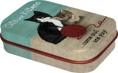 Cough drop tin box Cats and Kittens