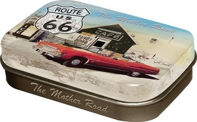 Cough drop tin box Route 66 The Mother Road