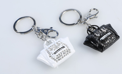 "Day bag decor / keychain ""handbag"", black or white"
