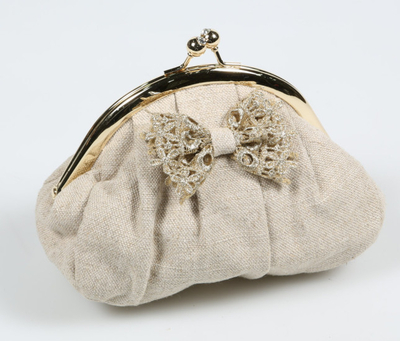 Day lace make up/ clutch bag, beige