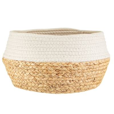 Decor basket striped, white