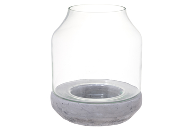 Decorative candle holder, concrete