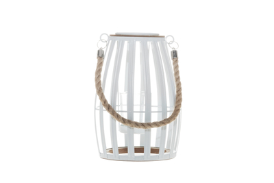 Decorative candle lantern, white