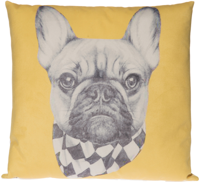 Decorative cushion Animals, Dog, yellow