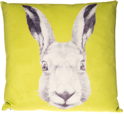 Decorative cushion Animals, Hare, lime green