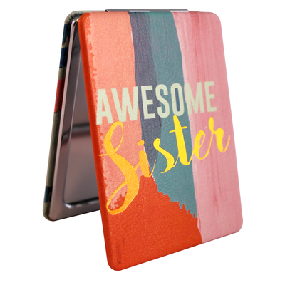 "Disaster Designs Ta-daa ""Awesome Sister"" pocket mirror"